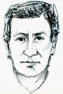 Das ursprüngliche Phantombild des Täters