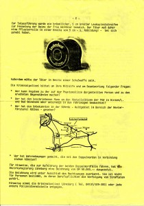Postwurfsendung der Polizei Lüneburg, Rückseite