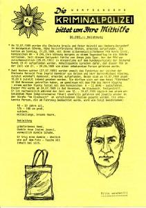 Postwurfsendung der Polizei Lüneburg, Vorderseite